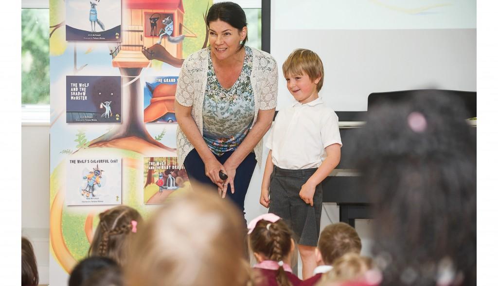 Avril McDonald - Author of 'Feel Brave' series at Mead Road School, Chislehurst